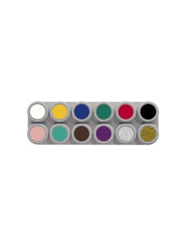 Paleta de maquillaje al agua de 12 colores