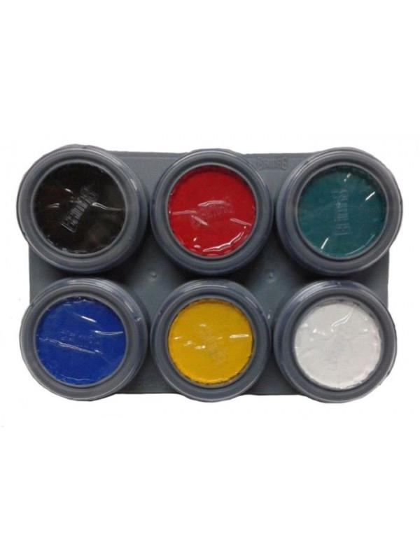 Paleta maquillaje al agua 6 colores