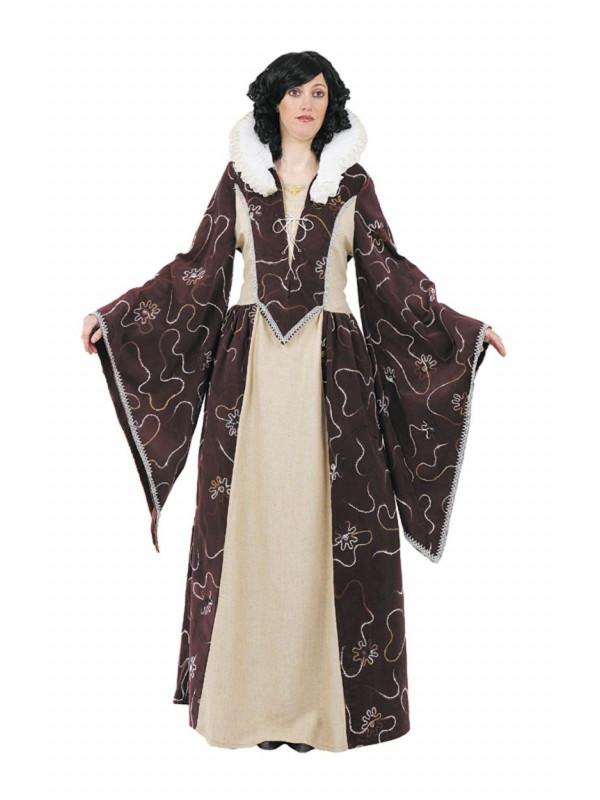 Trajes de reina medieval mujer