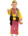 Disfraz hippie bebe niña