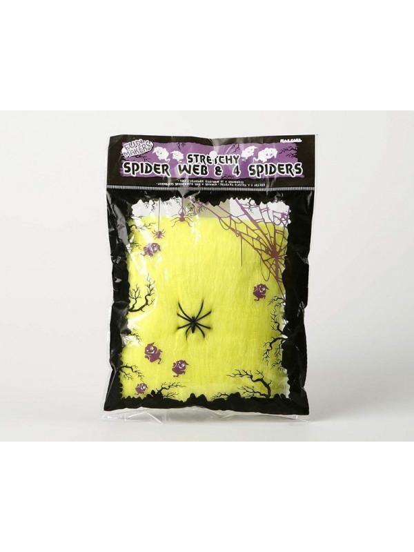Telaraña elástica con arañas