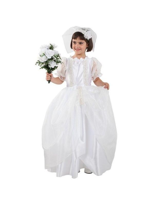 Disfraz de novia infantil