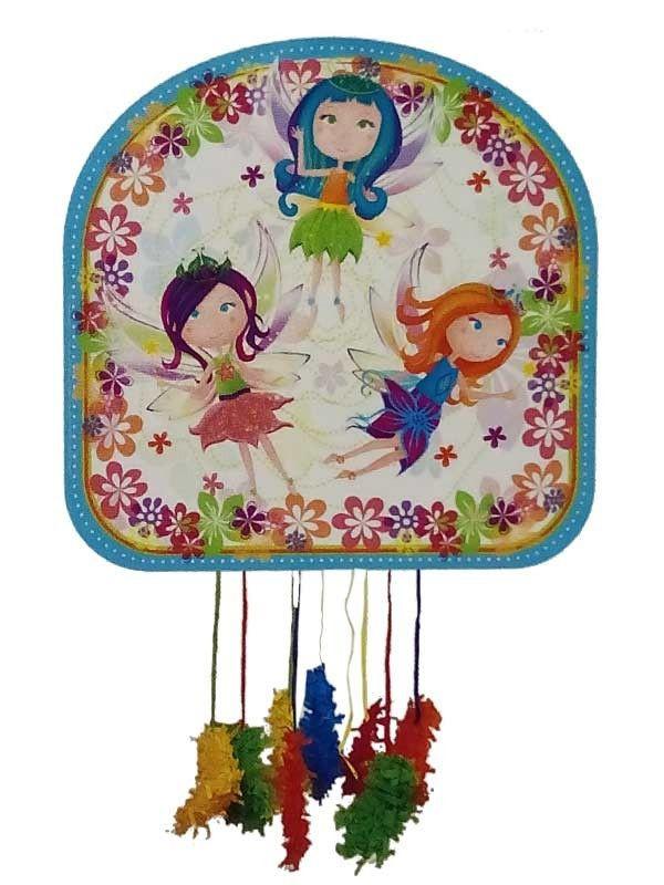 Piñata hadas flores del bosque
