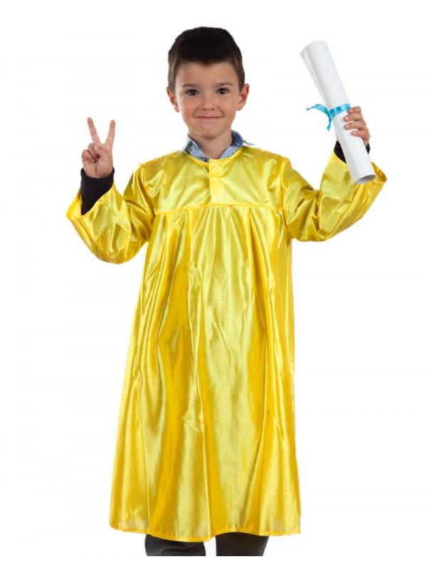 Toga graduación infantil amarilla