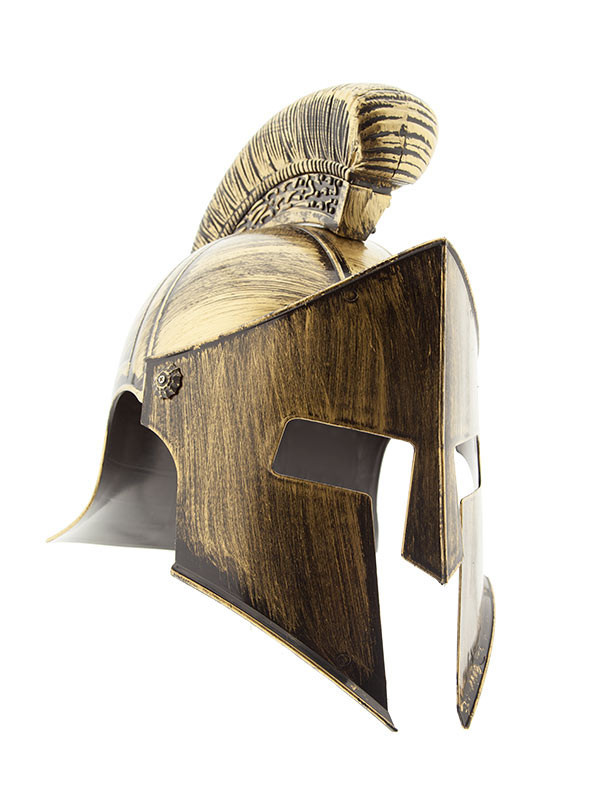 Casco de espartano oro