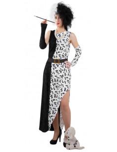 Cruella De Vil Kostüm für Halloween Feste