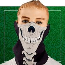 Stoffmasken mit Halloweendesign